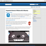 This is the homepage for a Harry Potter-themed demo of KidGab.