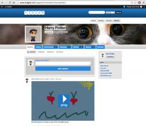 A user profile on KidGab.